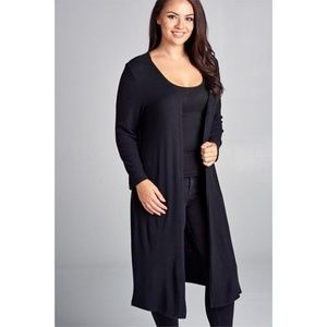 Sweaters - NWT Black Duster Cardigan - Plus Size